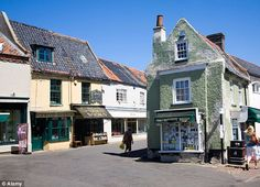 The Duchess of Cambridge enjoys shopping in picturesque North Norfolk villages such as Holt (pictured). Already William and Kate have immersed themselves in a notably more domestic – not to say middle class – life style than many Royals, with under-the-radar shopping trips to nearby market towns and evening dinners in country pubs.