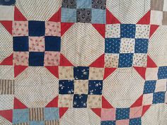 Vintage Red Blue Shirting Quilt Cutter | eBay, starchild06239