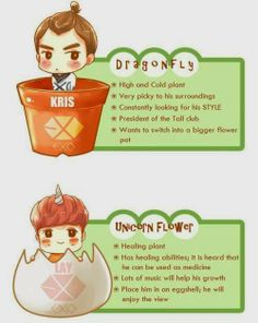 Kris and Lay plants fan art Cr: owner who ever they are, IM sorry I cant give you proper credit. Fanart