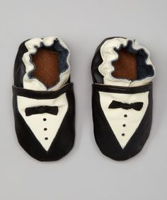 Black & White Tux Booties