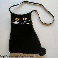 Bolsa de gatinho com molde e passo a passo