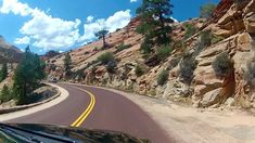 driving records of Zion's very spectacular Scenic Drive Enjoy the full ride from East Entrance to Visitor Center 7 Continents, Beautiful Places To Travel, Zion National Park, Places To See, Utah, Video Project, Around The Worlds, Country Roads, Explore