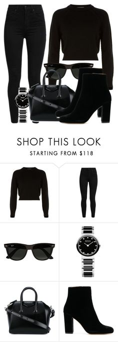 """Untitled #5203"" by beatrizvilar on Polyvore featuring Helmut Lang, Levi's, Ray-Ban and Givenchy"