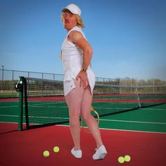 Keith Lemon 1993 Business man of the year Keith Lemon (actor Leigh Francis) chose the Tennis Girl pose to illustrate the month of June in his 2012 'Bang Tidy Calendar'. Points off for the lack of socks and use of separates instead of a tennis dress but extra marks for the vintage racket, baseball cap and farmer-tan lines. Sha-ting!