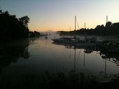 Picton, Ontario, 2009 - Misty harbour sunrise