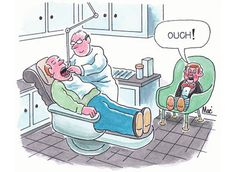 Wonder who's actually feeling it..the ventriloquist or his dummy??? #dental #humor