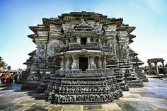 This is another temple in South India that takes your breath away - The Chennakeshava Temple! Originally called Vijayanarayana Temple, was built on the banks of the Yagachi River in Belur, by the Hoysala King Vishnuvardhana. Indian Temple Architecture, India Architecture, Religious Architecture, Ancient Architecture, Temple India, Hindu Temple, Temple Ruins, Hindus, Tourist Places