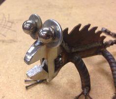 Wrench saw lizard Garden recycled art