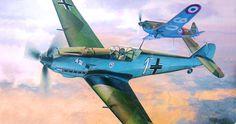 Messerschmitt Bf 109E-3 vs Morane Saulnier MS 406 (Battle of France), by Shigeo Koike