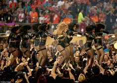 Beyonce was the star performer of this year's halftime show that was actually hosted by British rock group Coldplay