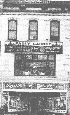 THE FAIRY GARDEN second floor & Ligget's Drug Store corner Jackson & Michigan Ave --JACKSON MICHIGAN