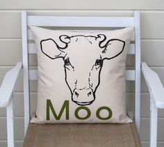 Cow Pillow, create a set of these for  Isaiah room or a nursery