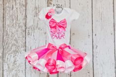 Baby Girl's First Birthday OutfitOnesie or by OneLovelyLittleLady, $65.00