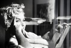 """""""Marilyn Monroe, New York 1956 (Reading Book)"""" by Elliott Erwitt is available for sale. Explore beautiful Marilyn photos on HL Photo Gallery. John Kennedy, White Photography, Street Photography, Timeless Photography, Photography School, Photography Portraits, Photography Lessons, Digital Photography, People Reading"""