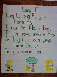 Vowels Long E