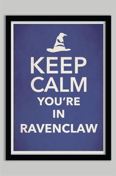 Keep Calm Ravenclaw Harry Potter Poster Print by POSTERED on Etsy, $17.00