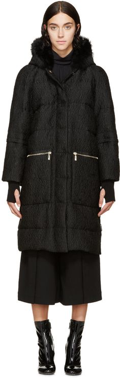 Image of Moncler Black Down Erdem Edition Julietta Coat