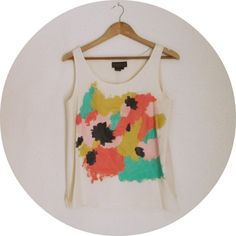 hand-painted tank top