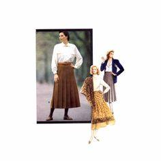 1980s Misses Skirt Vogue 7589 Vintage Sewing Pattern