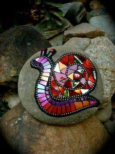 Rock mosaics for the garden...