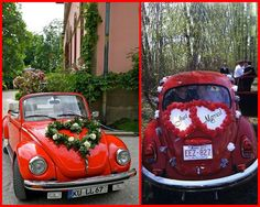 Beetle just married bugs, Heart Decorations, Wedding Decorations, Just Married Car, Stylish Eve, Love Bugs, Vw Beetles, Dream Wedding, Wedding Cars, Wedding Ideas