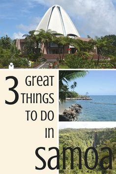 Three great things to do in Western Samoa: The Baha'i Temple, Palolo Deep Marine Reserve and Papapapaitai Falls. #island #southpacific #apia