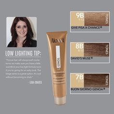 Want to avoid cooler tones? Aloxxi's Lisa Coates recommends adding a little warmth! | hair color | salon color