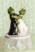 Dancing Froggie Wedding/anniversary Cake Topper