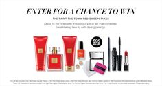 Avon's Paint the Town Red Sweepstakes! | Enter for a chance to win this 9-piece Avon sweepstakes prize worth $95! The prize includes Little Red Dress perfume, shower gel, & body lotion, Avon 7-in-1 Gel Finish Nail Enamel, and of course Avon makeup! You don't have to buy a thing to enter and Avon Representatives can enter, too!