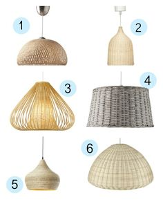 Lámparas colgantes de fibras naturales