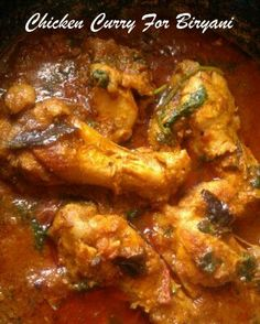 Chicken Curry For Biryani