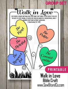 Bible Craft Walk In Love Group Set by SewBitandCo on Etsy