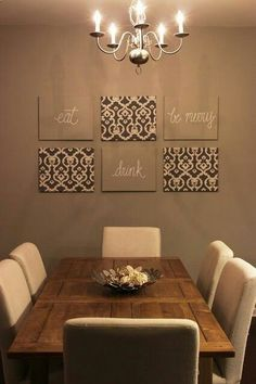 Idea for Dining:  Lights & Decor