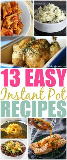 If you are a new Instant Pot owner or just getting your feet wet these 13 easy Instant Pot recipes for beginners will get you cooking like a pro! If you are a new Instant Pot owner or just getting your feet Paleo Recipes, Dinner Recipes, Cooking Recipes, Delicious Recipes, Easy Recipes, Dinner Ideas, Cooking Gadgets, Delicious Dishes, Cooking Videos