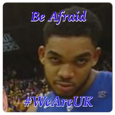 Karl Anthony Towns sent a message last night to all of college basketball #BeAfraid #WeAreUK #WeAre#1 #BBN