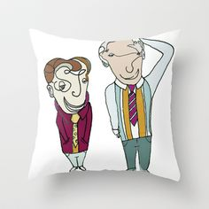 Señores Throw Pillow by Litca - $20.00