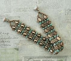 Linda's Crafty Inspirations: Bracelet of the Day: Margareta DiamonDuo Bracelet