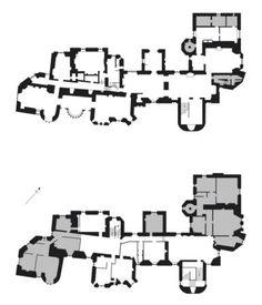castle floor plans plan dunster medieval artwork castles england map werewolf nationaltrustimages