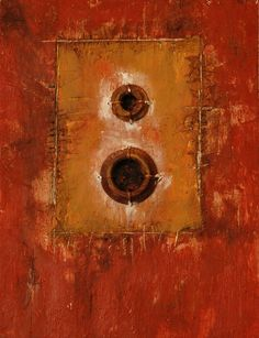 Encaustic Series Painting 4 (with Pipe Fittings) | DOMENICK NACCARATO