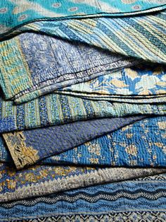 Single Kantha Throw by Jeanette Farrier on Gilt Home