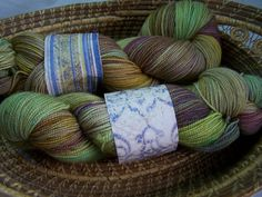 Victorian Hand Dyed MCN Sock Yarn by TurtleMade on Etsy, $20.00 Love this colorway.