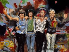 The Rolling Stones by Ronnie Wood