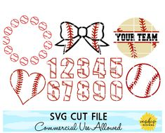 Baseball svg bundle, Baseball Numbers with Stitches svg, Baseball Monogram Frame svg, Baseball Heart Baseball Numbers, Baseball Mom, Baseball Gear, Baseball Party, How To Make Stencils, Silhouette Projects, Silhouette Cameo, Silhouette Studio Designer Edition, Monogram Frame