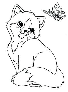 Coloriage Chat A Imprimer Gratuit Animal Coloring Pages Cat Coloring Page Kittens Coloring