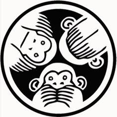 Fresh Pick Killaz Self Titled Mixtape/ep Moños Tattoo, Monkey Drawing, Monkey Illustration, Monkey Pictures, Three Wise Monkeys, Monkey Tattoos, Owl Tattoo Design, See No Evil, Marquesan Tattoos