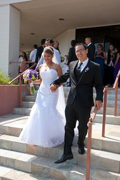 Walking as husband and wife. Repin if you Like. Click www.rksshots.com #RksPhotography #SanDiegoPhotography #NorthCountyPhotography #Wedding #Vista #StFrancisOfAssisiCatholicChurch #Alberto