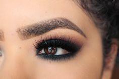 Makeup Geek Duochrome Eyeshadow in Typhoon + Makeup Geek Eyeshadows in Cherry Cola and Corrupt. Look by: Anaiz Avalos