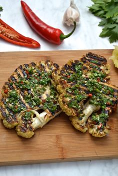 BBQ Cauliflower Steak with Chimichurri  #justeatrealfood #everylastbite