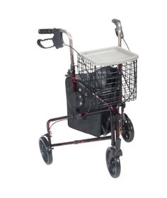 Drive Medical 3 Wheel Rollator Flame Red *** Click the aids image to find out more