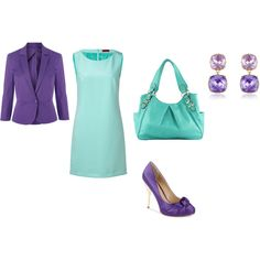 """Light Summer - tyrquoise- violet"" by adriana-cizikova on Polyvore"